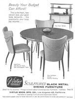 Virtue Brothers Furniture 1956 Ad Picture