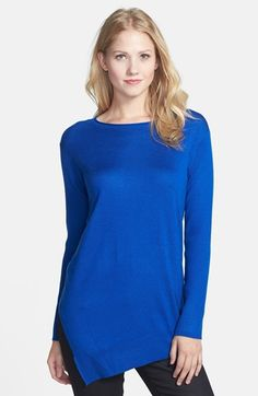 Vince Camuto Asymmetrical Hem Tunic Sweater (Regular & Petite) available at #Nordstrom