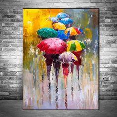 Abstract Portrait Oil Paintings Print On Canvas Art Prints Girl Holding An Umbrella Wall Art Pictures Home Wall Decoration Canvas Art Prints, Oil Painting On Canvas, Painting Prints, Artwork Prints, Diy Painting, Poster Prints, Abstract Portrait, Abstract Wall Art, Buddha