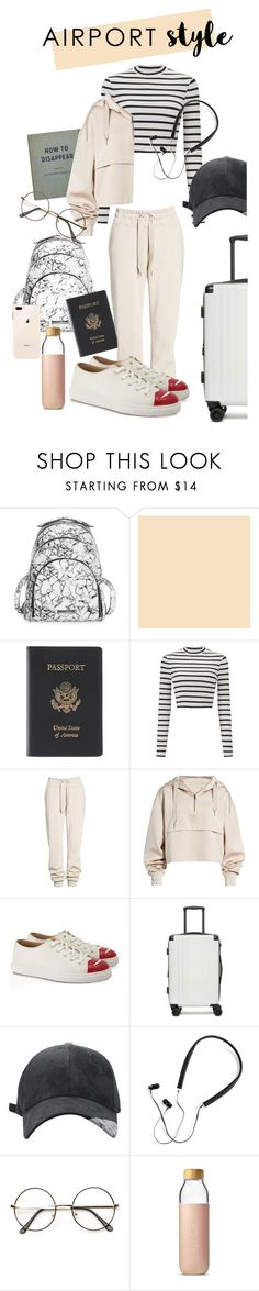 """Airport style"" by mjffri ❤ liked on Polyvore featuring Kendall + Kylie, Royce Leather, Miss Selfridge, Ivy Park, Charlotte Olympia, CalPak, Polaroid, Soma and airportstyle"