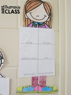 Math About Me- a craftivity that is All About Me in a math theme! 2nd Grade Activities, Kindergarten Math Activities, Back To School Activities, Educational Activities, 2nd Grade Classroom, Classroom Setup, Math Stations, Math Centers, Math About Me