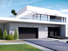 Wizualizacja CPT Koncept 30 CE Beautiful House Plans, Modern House Plans, House Front Design, Modern House Design, House Construction Plan, Duplex Design, 2 Storey House, Modern Architecture House, Home Fashion