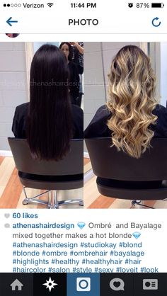 Ombre bayalage blonde
