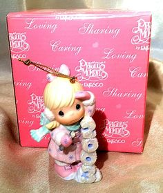 "Precious Moments Christmas Ornament ""Icy Good Times Ahead"" 2003 