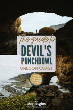 Looking for some cool things to do on the Oregon Coast? Look no further than Devil's Punchbowl State Park! This hidden Oregon coast destination is filled with fun adventures like cave exploring, tide pools, surfing, and more! Don't pass up this cool Pacific Northwest adventure, and save this post for your next Oregon Coast road trip! #oregon #oregoncoast #PNW #pacificnorthwest Oregon Living, Tide Pools, Oregon Travel, Road Trip Hacks, Punch Bowls, Oregon Coast, Amazing Adventures, Washington State, Pacific Northwest
