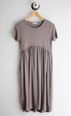 Taupe Pocket Dress