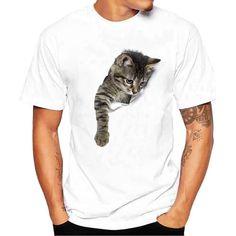 Feitong 3d t-shirt Mens Short Shirts 2018 Summer Funny Printing Tees Shirt Short Sleeve T Shirt Camisetas Masculina White Blouse
