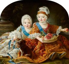 Louis Auguste, duc de Berry (later King Louis XVI, King of France and Louis-Stanislas-Xavier, comte de Provence (later King Louis XVIII, King of France as Children 766123 Louis Xvi, National Trust, A4 Poster, Poster Prints, French Royalty, Auguste, Ludwig, Historical Art, Victorian Art