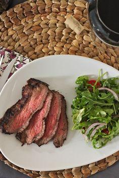 Red Wine Marinated Flank Steak | TheCornerKitchenBlog.com