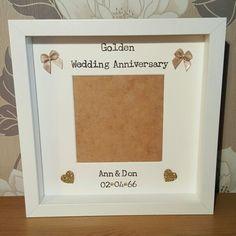 Golden Wedding Anniversary Frame