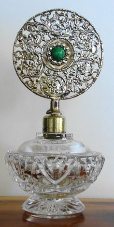Vintage CUT Glass Victorian Vanity Perfume Bottle