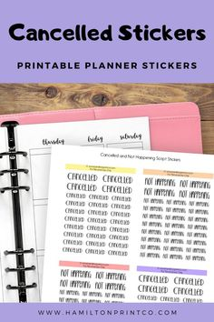 Planner Stickers - Better Handle Your Time And Energy Using These Tips Printable Planner Stickers, Printables, Label Paper, Hobonichi, Erin Condren, As You Like, Cutting Files, Script, Stress
