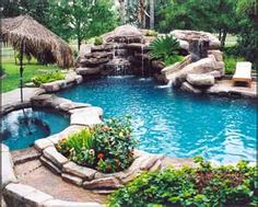 Pool and Waterfall