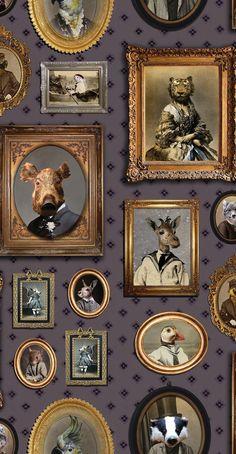 Portrait Gallery Mauve wallpaper by Graduate Collection