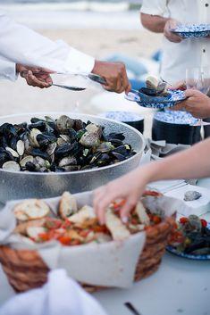 Clambake on the beach - buffet style!