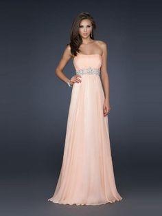 A-Line/Princess Sleeveless Strapless Chiffon Pleats Sweep/Brush Train Dresses - Prom Dresses 2016 - Prom Dresses