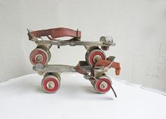 my roller skates were metal clunkers like these!!