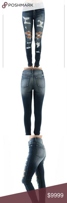 Distressed skinny jeans. Coming soon A girl can never have too many jeans. Cute distressed denim 98%cotton 2%spandex Jeans Skinny