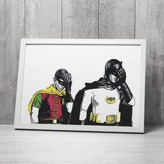 Alle gjør feil til og med Superhelter som Batman & Robin! Doh DØLT. Det er ikke så DØLT som det høres ut som! Plakaten kjøpes på Gallerome.com.