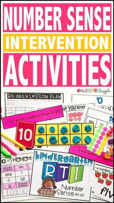 If you have students struggling with number sense, this comprehensive math intervention curriculum can be a great addition to your RTI or small group time! This resource can be used in so many different ways. It was initially designed with kindergarten RT