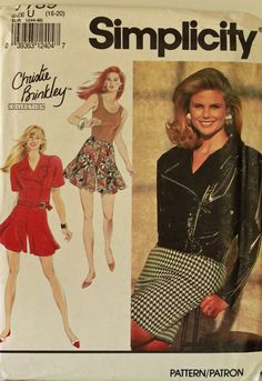Jacket Skirt Shorts & Top 1990's   Simplicity by patterntreasury