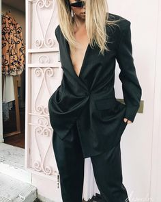 Feminine power play. Ultimate girl boss suiting via our director @shannondesordre in new #ChristopherEsber and #GeorgeKeburia sunglasses.…