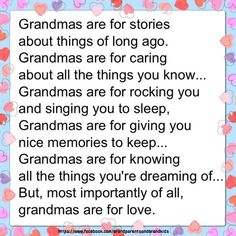 GRANDMAS ARE FOR LOVE!!!