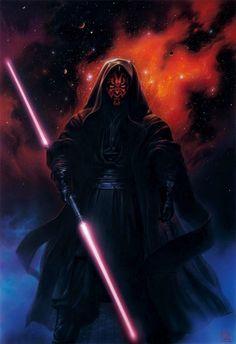 Star Wars // by Tsuneo Sanda Darth Vader Suit, Darth Bane, Darth Maul Wallpaper, Star Wars Wallpaper, Star Wars Sith, Clone Wars, Star Wars Images, Star War 3, The Darkest