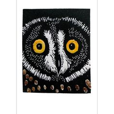 'Any Little Owl Can Hoot' by Printmaker Mary Collett.   Blank Art Cards By Green Pebble. www.greenpebble.co.uk