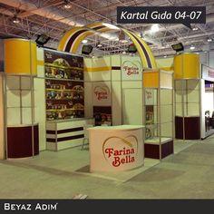 Helal Expo Fuarında, Kartal gıda için hazırladığımız 04-07 Eylül 2014 tarihinde sergilenen stand çalışmamız.  #BeyazAdımMimarlık #Fuar #AmbalajFuarı #Stand #Reklam #Tanıtım