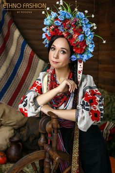 Ukraine Women, Women's Fashion, Embroidery, Bridal, Style, Day Of The Dead, Swag, Fashion Women