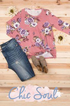 Floral Dreams Top, Mauve