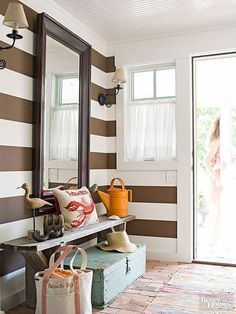 Image result for better homes and gardens entryway design
