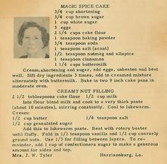 From the kitchen of Harrisonburg resident, Mrs. J. W. Tyler: