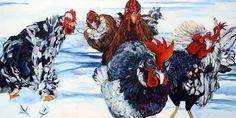 Acrylic paintings and cards, by Janice Ykema, Hamilton, ON