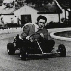 Elvis On a go-cart at Graceland