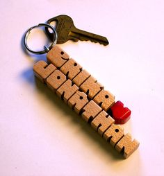 Love Keychain ~ Maple Wood  Handmade to Order by DustyNewt on Etsy, $10.00