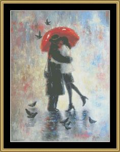 Kiss After Work [VW-10] - $16.00 : Mystic Stitch Inc, The fine art of counted cross stitch patterns