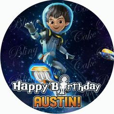 Miles from Tomorrowland Edible Icing Sheet Cake Decor Topper - MFT1