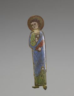 Apostle.  French (Artist)  late 12th century (Medieval)  champlevé enamel on copper with gilding  (Enamels)