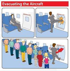 evacuating the aircraft