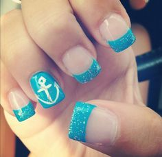 My summer nails. I need to get these again if I go on a cruise #cutesummernails