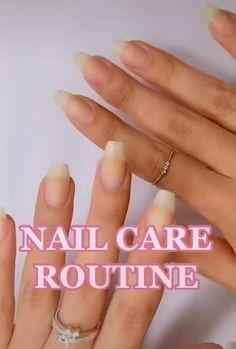 Grow Long Nails, Grow Nails Faster, How To Grow Nails, How To Paint Nails, How To Shape Nails, Nail Growth Tips, Nail Care Tips, Classy Nails, Stylish Nails
