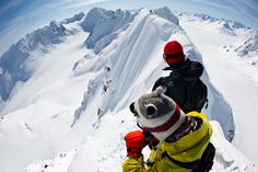 Nico , and Bode on top of the world. Need to get my ass to Haines Alaska one day to share the crap outta myself