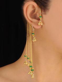 Silver Shower Ear Cuffs Earrings - JaipurMahal.com
