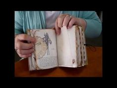 Vintage Mini Journal - YouTube ....Beautiful elements...including glassine bag treatment, little booklets, various page sizes, fussy cutting, embossing!  Watch again!