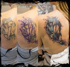 #tattoo #tatuaggio #cover #cheyenne #thunder #spirit #watercolor #feather #piuma