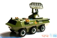 New sound and light tank with surface-to-air missiles alloy model (select) #Handmade
