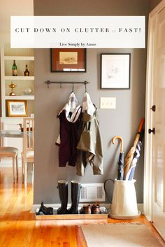 how to cut down on clutter- fast! Pass it on!
