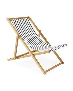 Teak Sling Chair - Lido Stripe - Home Decor & Furniture - Serena & Lily Painting Wooden Furniture, Pallet Furniture, Rustic Furniture, Antique Furniture, Modern Furniture, Business Furniture, Furniture Layout, Industrial Furniture, Beach Furniture